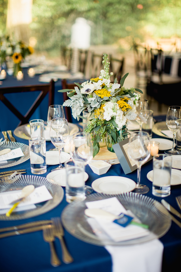 Yellow and navy Legare Waring House wedding in Charleston, SC