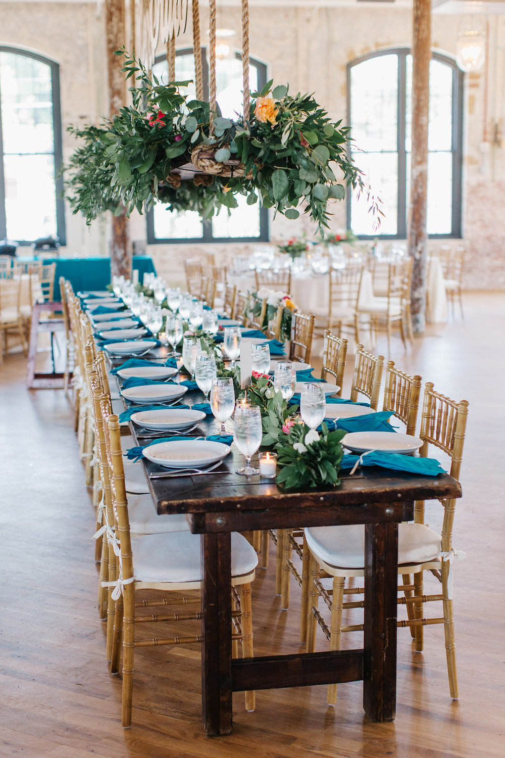 Colorful wedding at The Cedar Room by A Charleston Bride