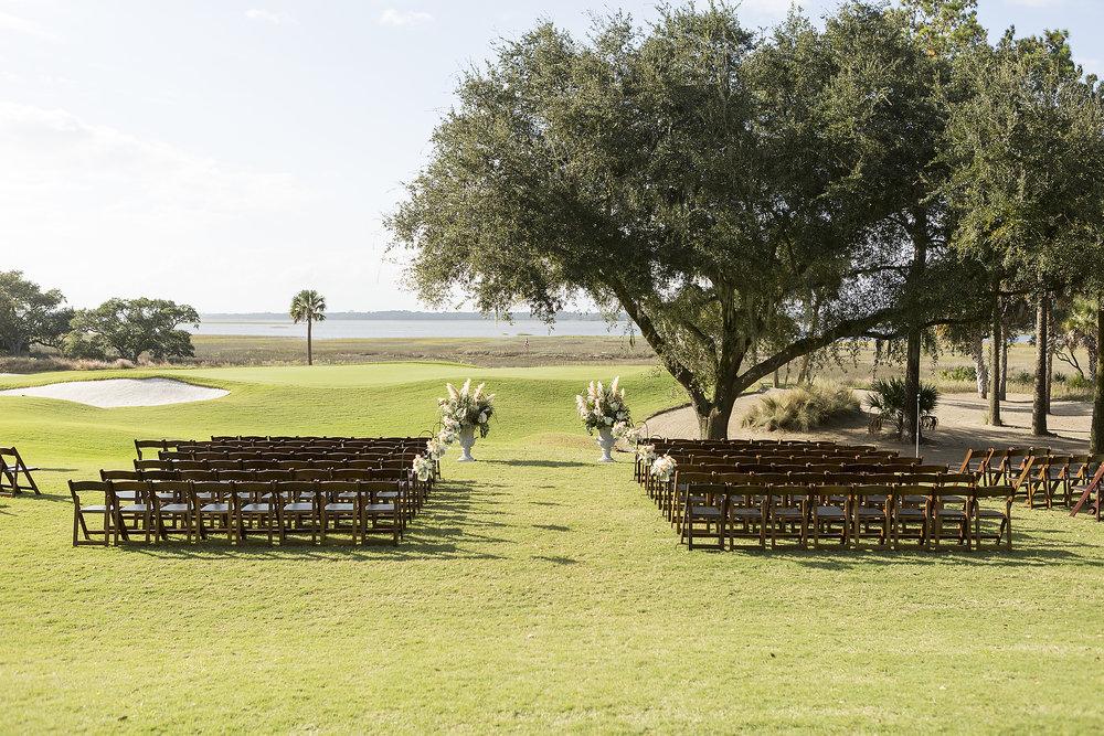 Grey & Peach wedding on Kiawah Island by Richard Ellis