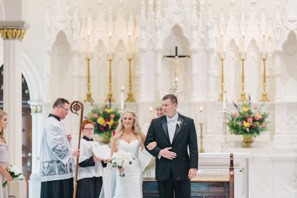 Charleston wedding ceremony at The Cathedral of St. John the Baptist
