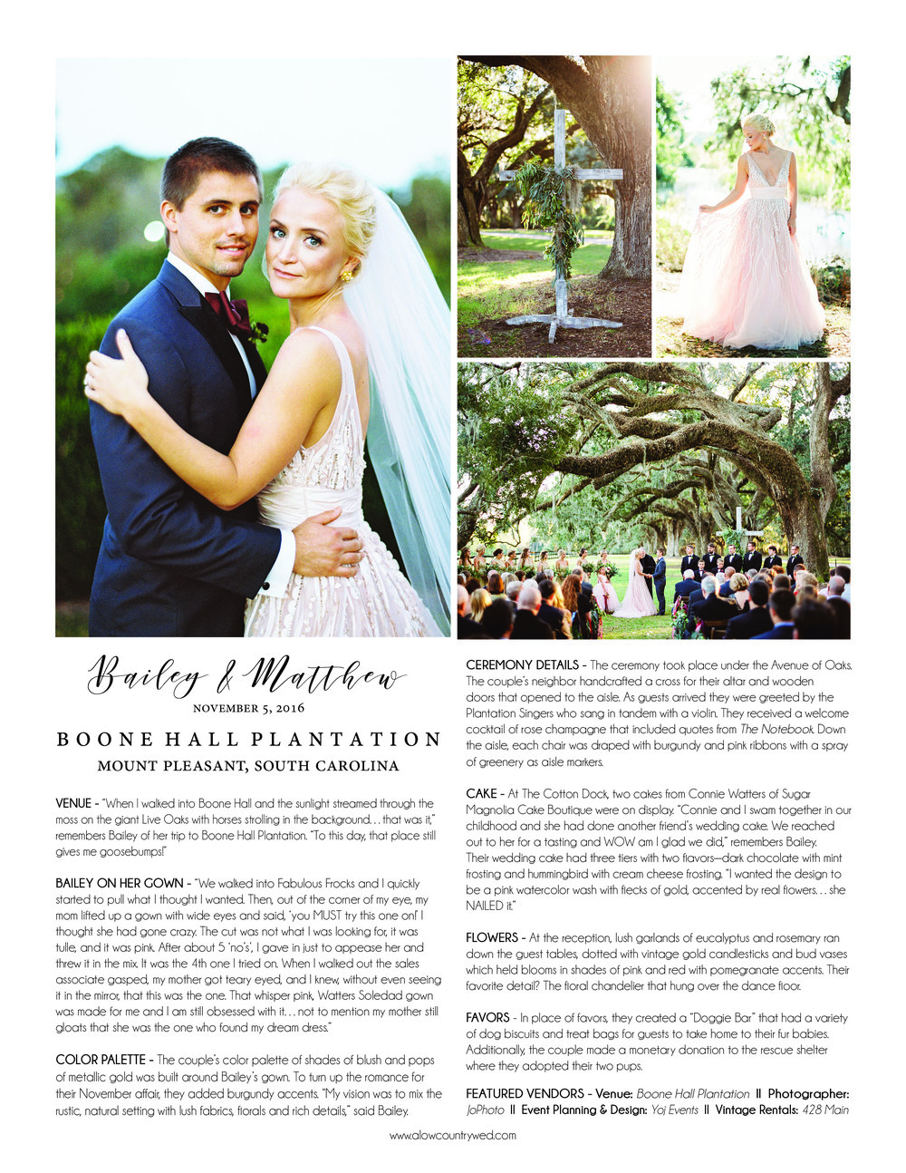 A Lowcountry Wedding Magazine Announcements