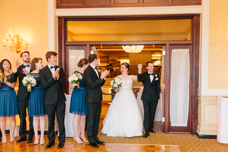 Gold and white wedding at The Francis Marion Hotel by Ashley Nicole Events