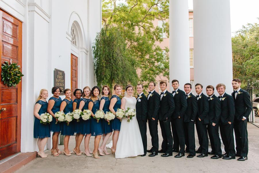 Navy lace bridesmaids dresses