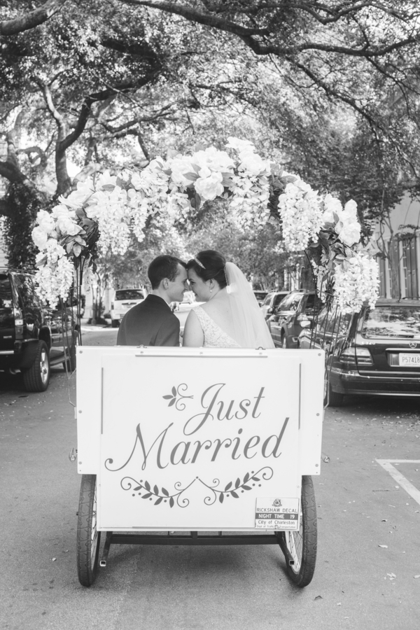 Just Married Rickshaw departure