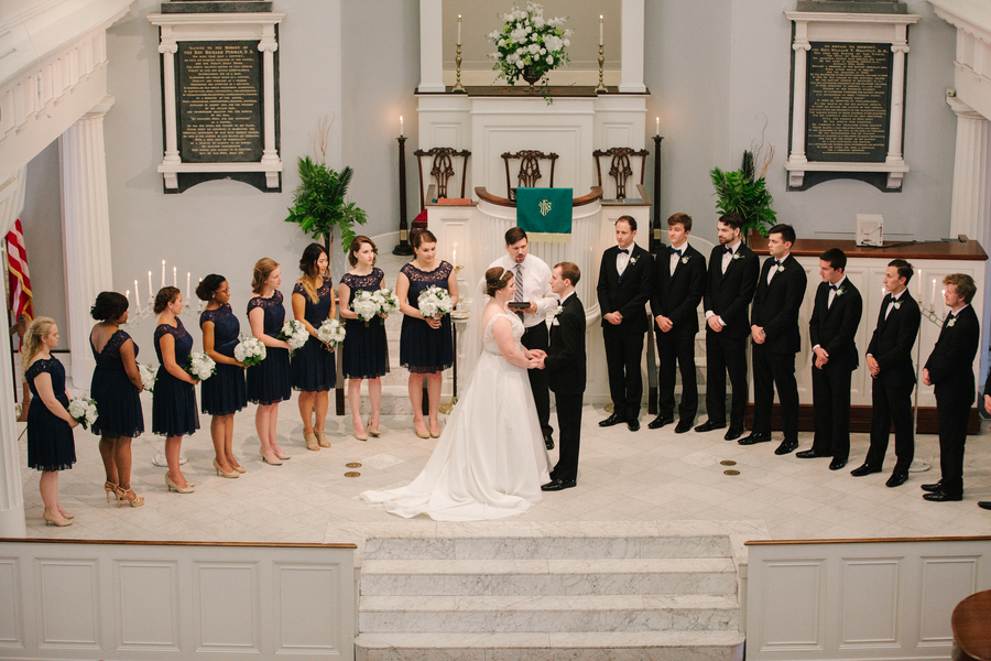 Traditional ceremony at The First Baptist Church in Charleston, South Carolina