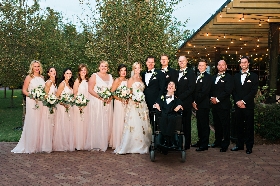 Blush and gold wedding party at The Ships of the Sea Museum in Savannah, GA
