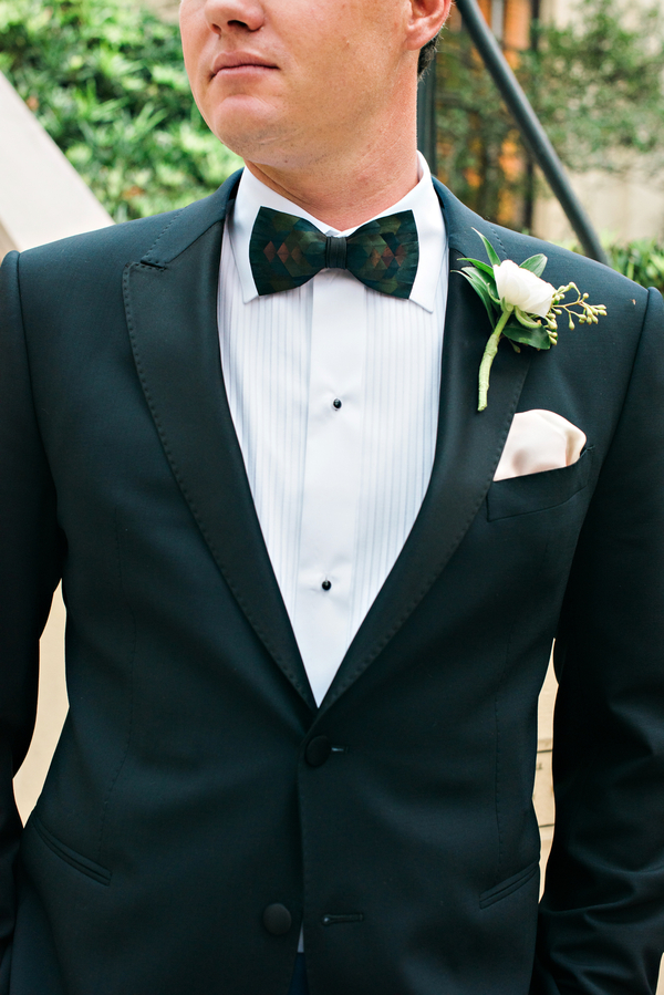 Black tuxedo with Brackish Bow Tie