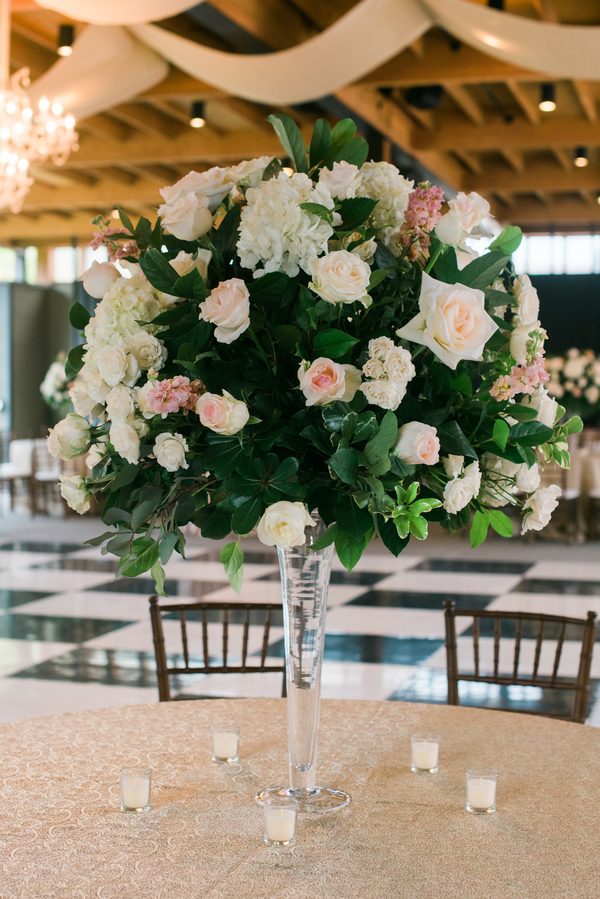 Lush centerpieces by Anne Bone Events at Ships of the Sea Museum