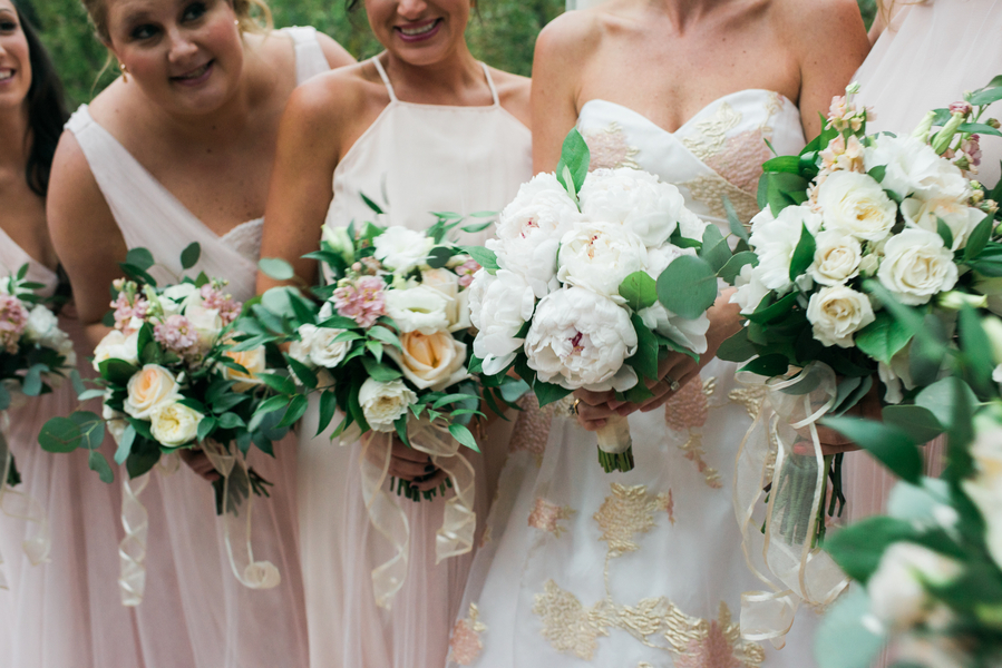 Bridesmaids bouquets at Savannah, GA wedding