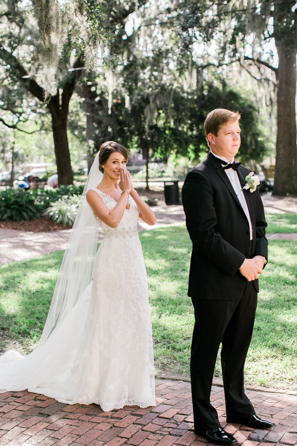 First look in Savannah square by JB Marie Photography