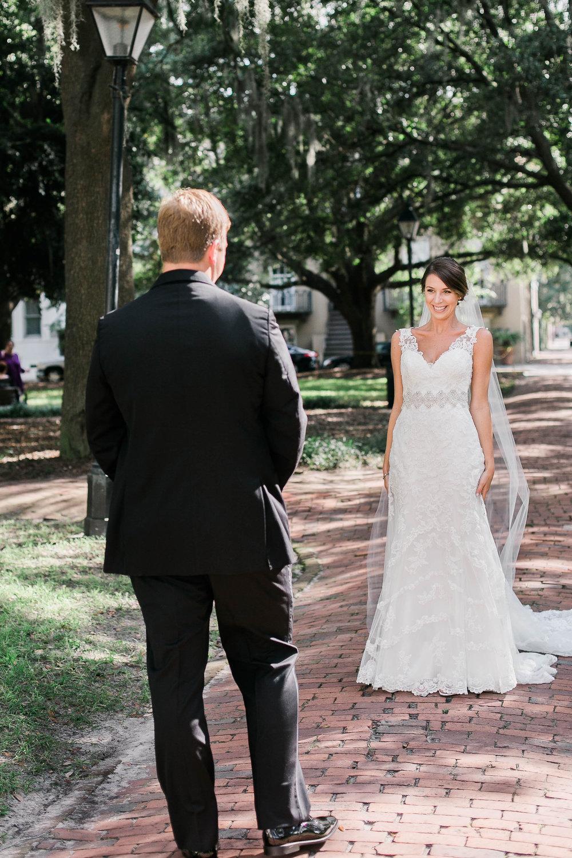 First look at Savannah, GA wedding