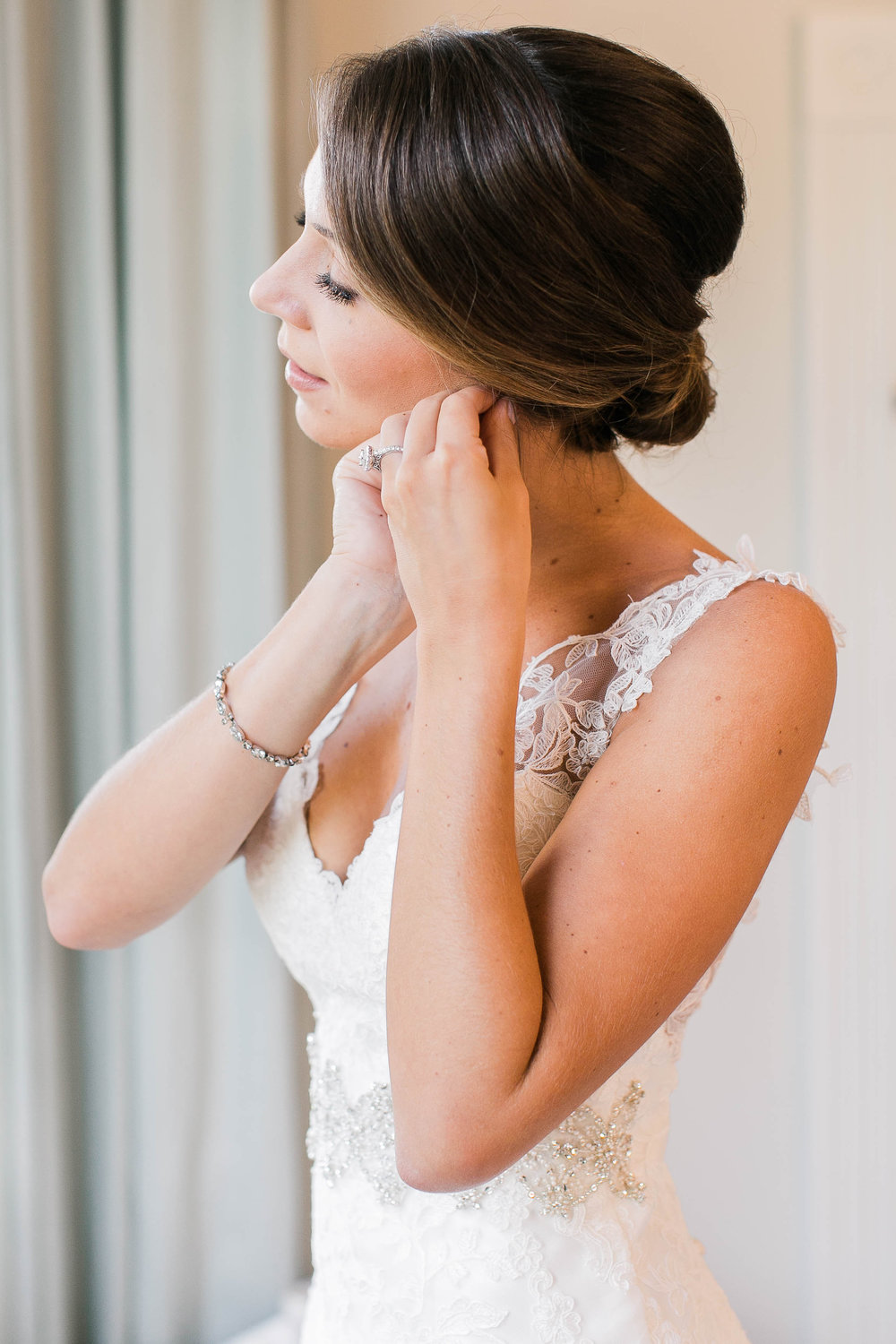 Lace Martina Liana wedding gown from Bleubelle Bridal