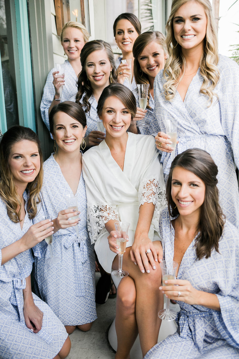 Bridesmaids hair and makeup at Mirabelle Cafe