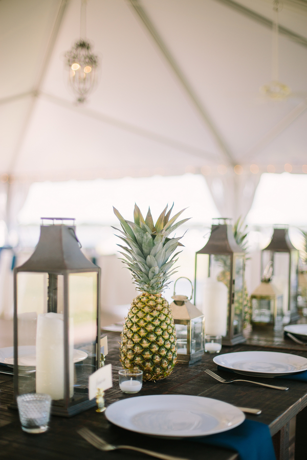 PIneapple wedding decor at The Island House