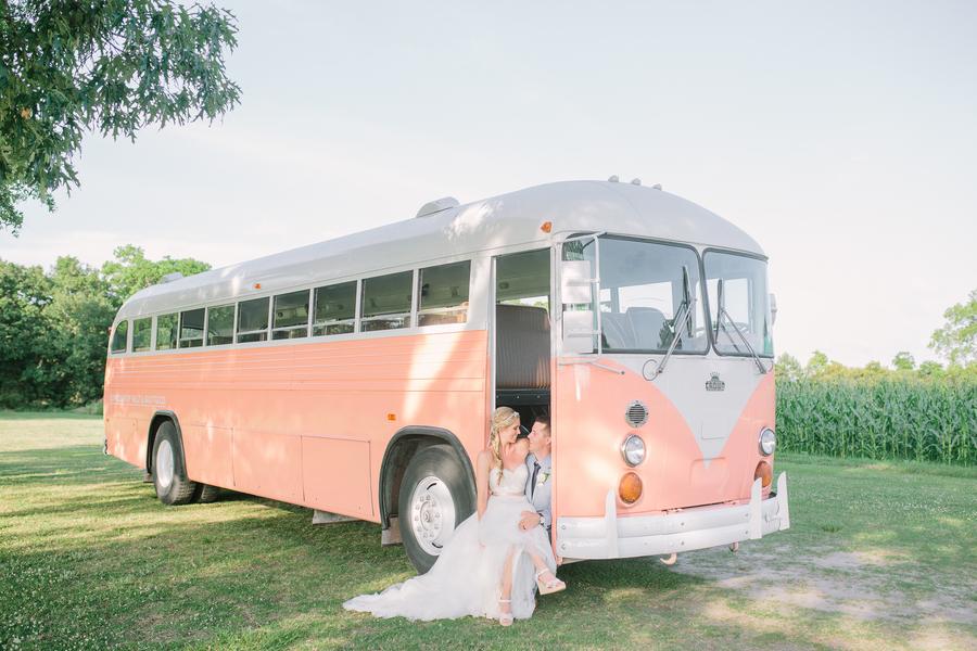 Vintage PInk VW Bus