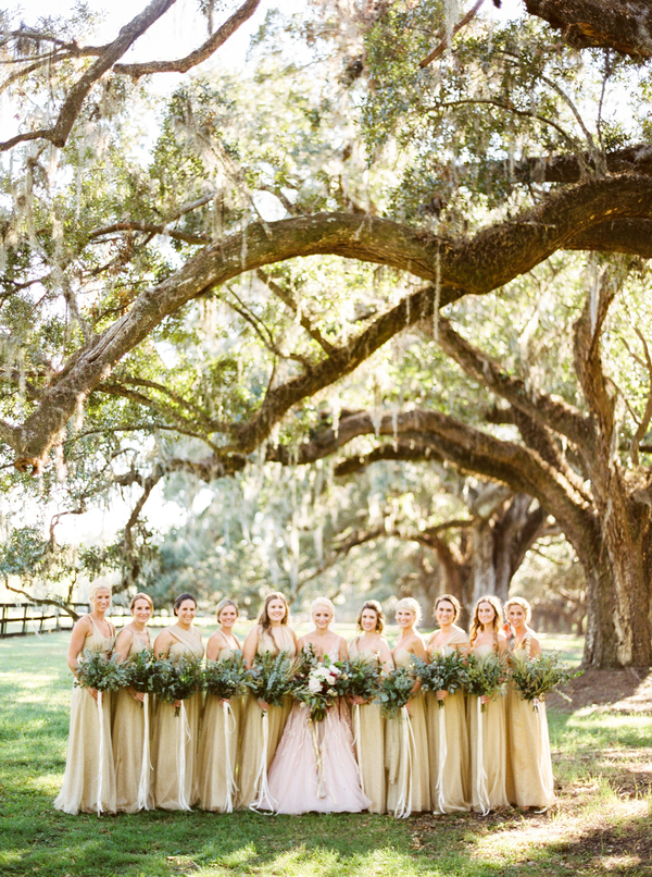 Blush, Burgundy & Gold Boone Hall Plantation wedding by Yoj Events