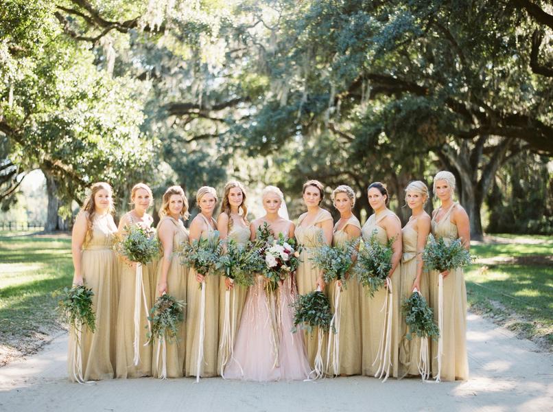 Blush, Burgundy & Gold Boone Hall Plantation wedding — A
