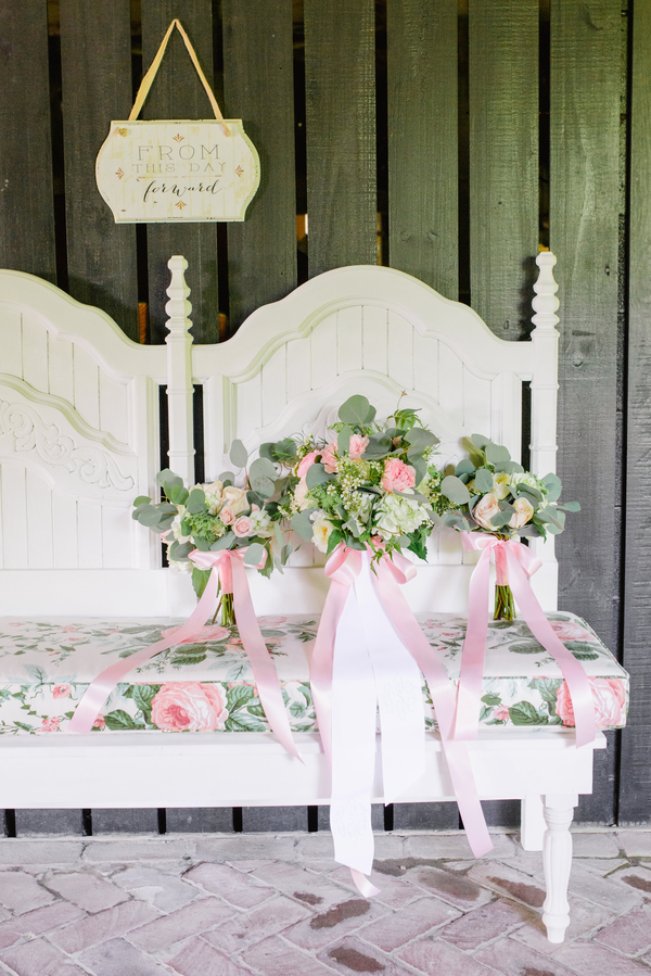Pink Old Wide Awake Plantation wedding in Charleston, SC