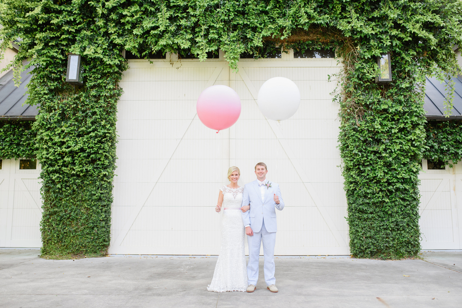 Pink Old Wide Awake Plantation wedding in Charleston, SC