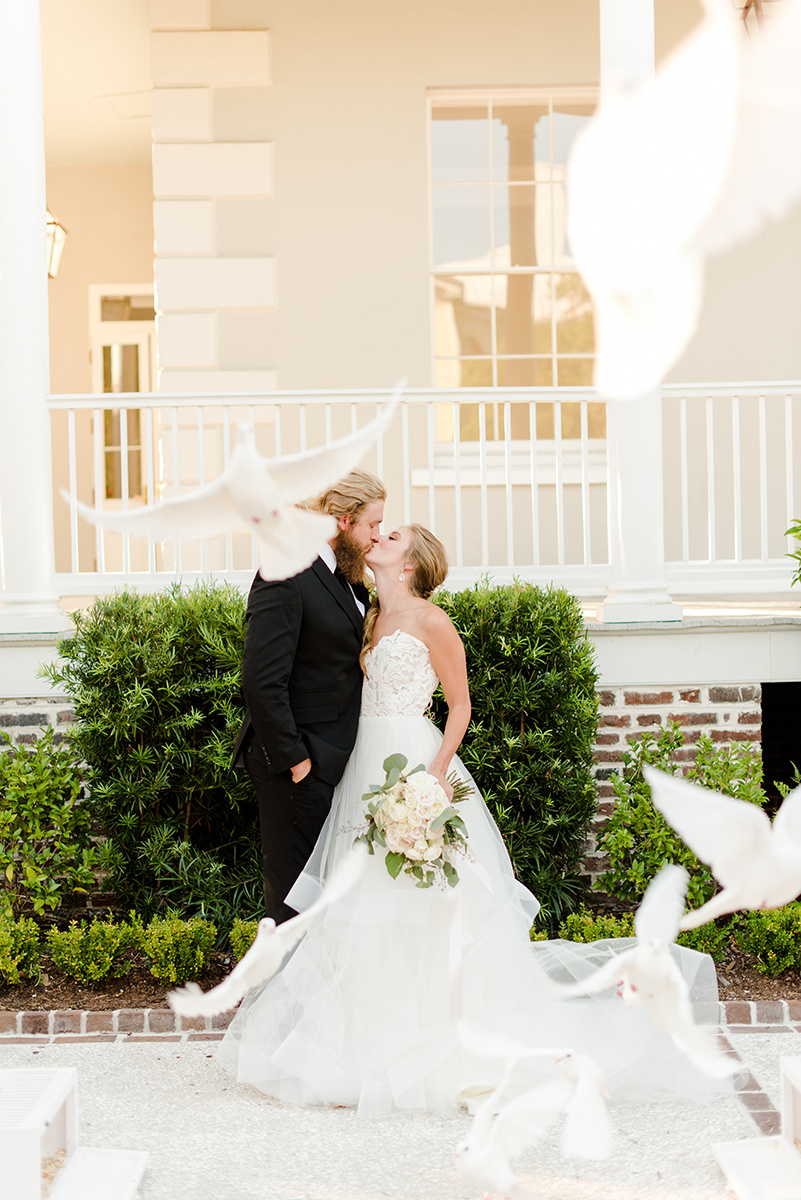 Black & White Gadsden House wedding inspiration by Candi Leonard Photography