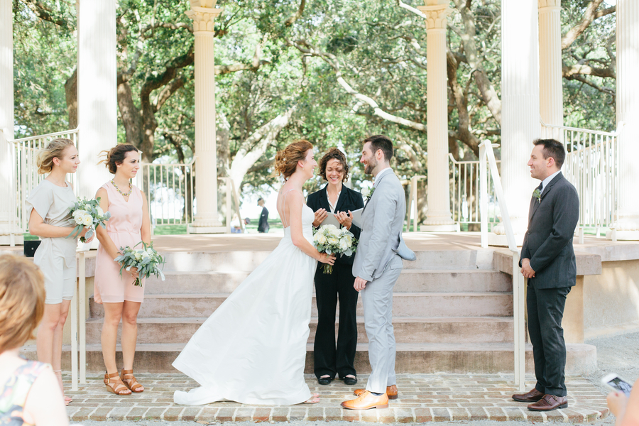 Charleston Wedding at White Point Gardens in South Carolina by Riverland Studios