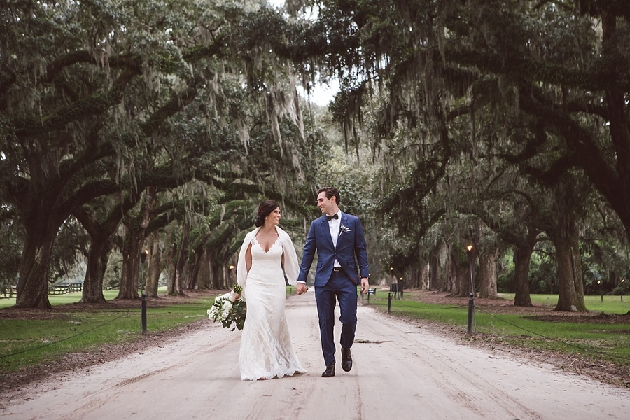 Charleston wedding at Boone Hall Plantation's Cotton Dock
