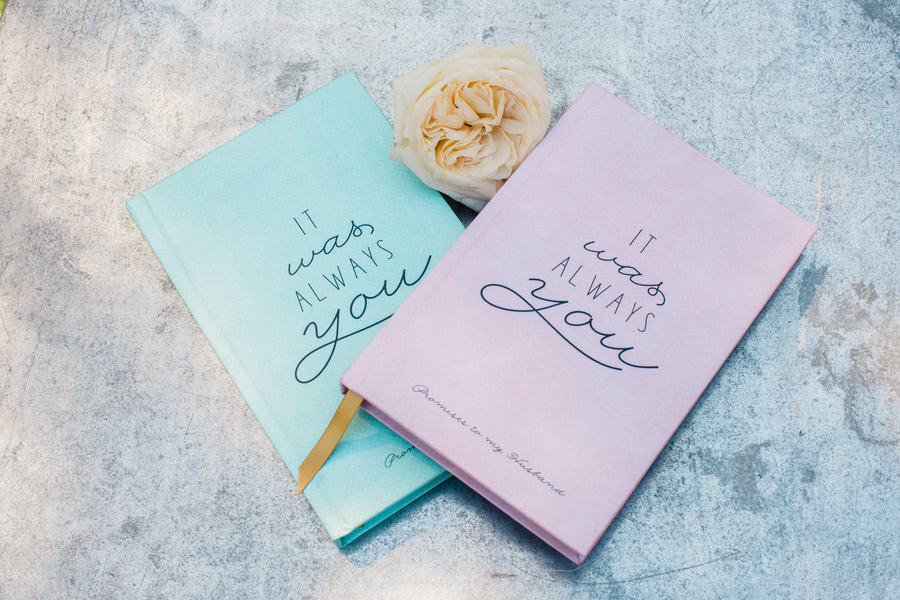 Charleston wedding vow notebooks // Charleston wedding photography on A Lowcountry Wedding Magazine
