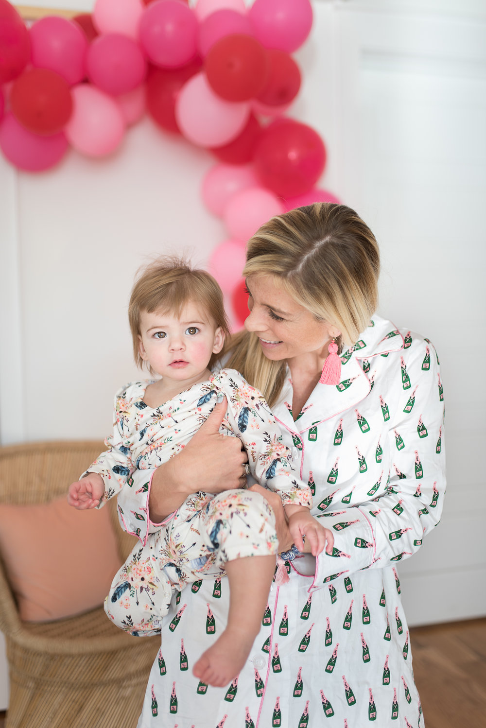 Mother and her baby in pajamas //  designed by Cayleigh Hopkins of The Petal Report  //  on A Lowcountry Wedding Magazine