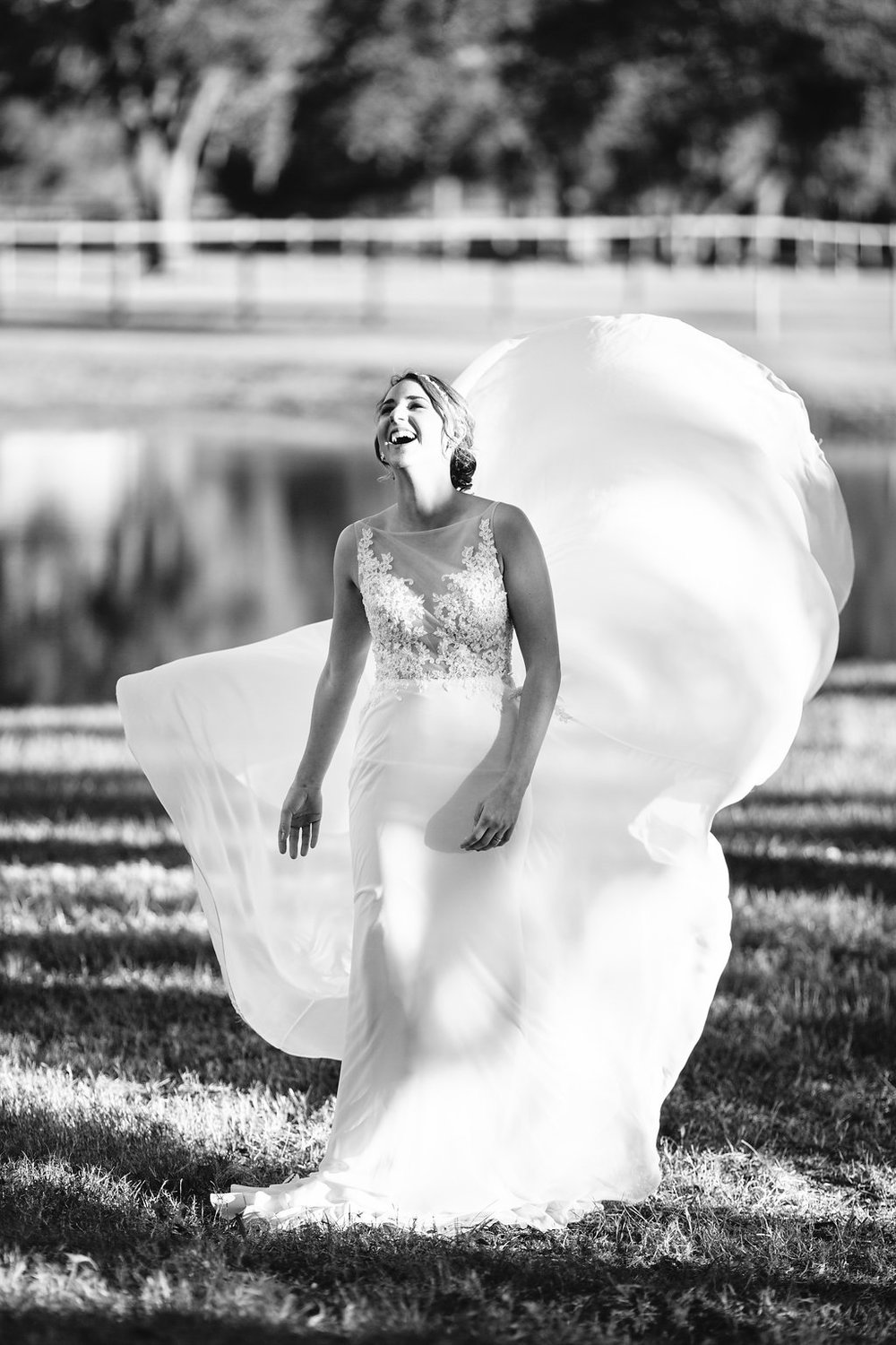 Bride in a Tara Keely gown from Verita Bridal Boutique  //  Charleston wedding photos from Carolina Photosmith  Bride and her maids at Sugah Cain Plantation in front of white horse and Carriage  //  on A Lowocountry Wedding Magazine & Blog