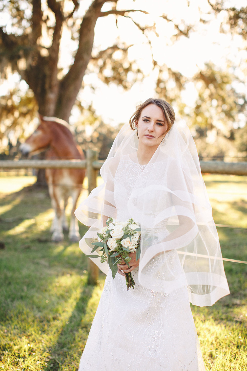 Charleston, SC bride at Sugah Cain Plantation  //  on A Lowocountry Wedding Magazine & Blog