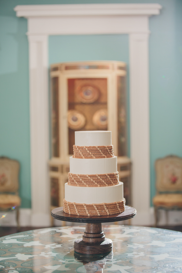 Sweetgrass wedding cake at The William Aiken House  //  Charleston wedding photos by Richard Bell Photography  //  A Lowcountry Wedding Magazine