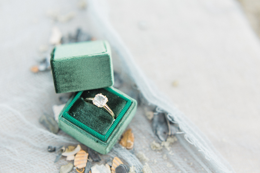 Green Mrs. Box for beach elopement  //  Savannah wedding photos by Dee Carlin Photography  //  on A Lowcountry Wedding Magazine & Blog