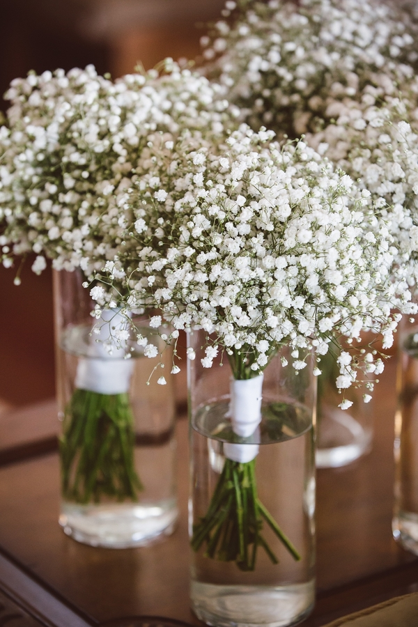 Baby's breath bouquets  //  Charleston wedding photos by amelia + dan photography  //  A Lowcountry Wedding Magazine & Blog