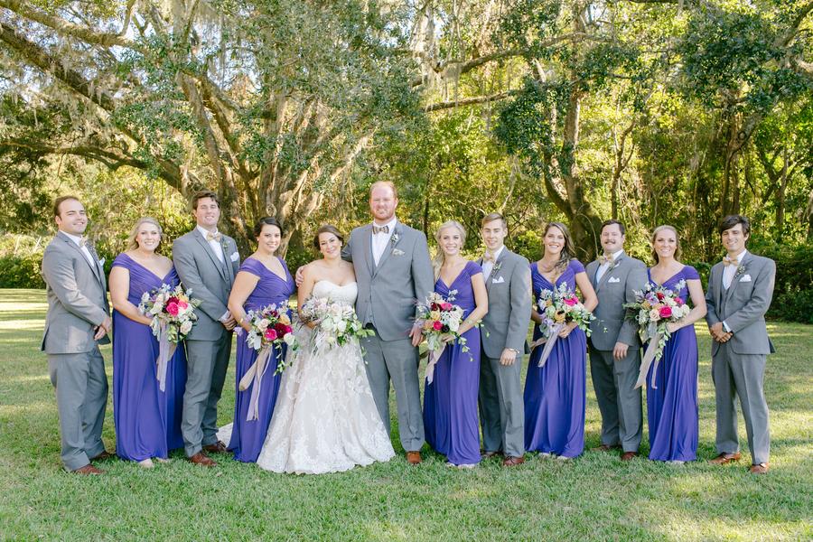Bridal party at Oak Point Plantation wedding on Johns Island, SC  //  Charleston wedding photographer Riverland Studios  //  A Lowcountry Wedding Magazine & Blog