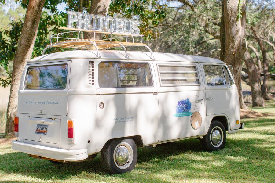 Lil' White Box Photo booth at Oak Point Plantation wedding  //  Charleston wedding photographer Riverland Studios  //  A Lowcountry Wedding Magazine & Blog