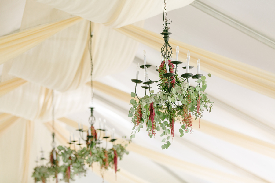 Floral Chandeliers at Oak Point Plantation wedding on Johns Island, SC  //  Charleston wedding photographer Riverland Studios  //  A Lowcountry Wedding Magazine & Blog