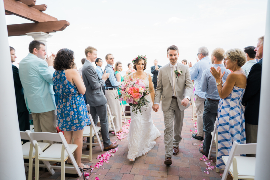 Outdoor ceremony on the terrace at Grande Dunes Ocean Club  //  Myrtle Beach wedding photos by Gillian Claire Photography  //  A Lowcountry Wedding Magazine & Blog