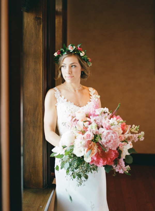 Lush pink peony bouquet by Little Shop of Flowers  //  Myrtle Beach wedding photos by Gillian Claire Photography  //  A Lowcountry Wedding Magazine & Blog