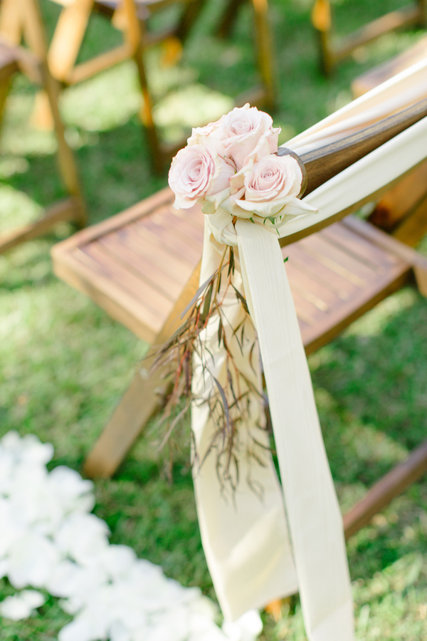 Wedding ceremony chairs at Oak Point Plantation  //  A Lowcountry Wedding Magazine & Blog