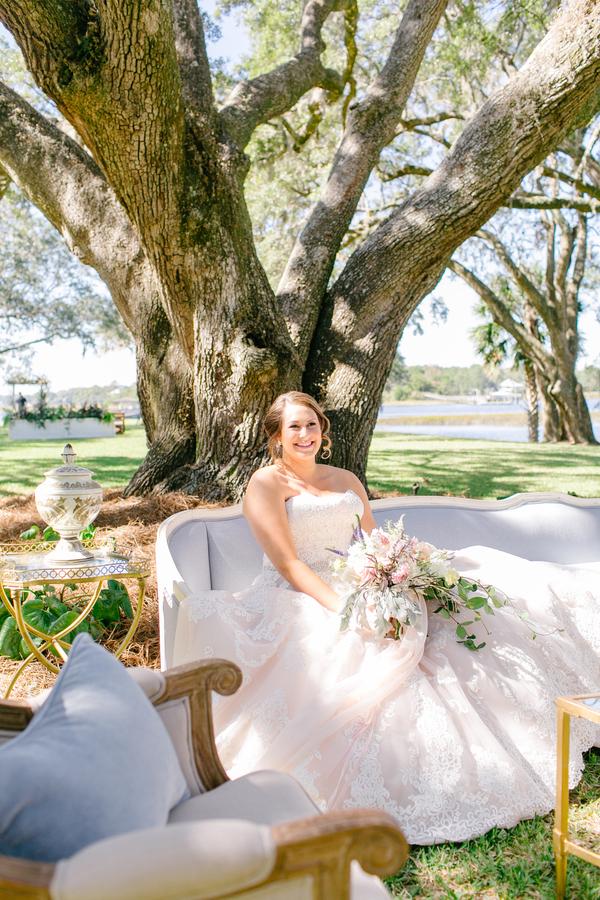 Bridal portraits at Oak Point Plantation  //  A Lowcountry Wedding Magazine & Blog