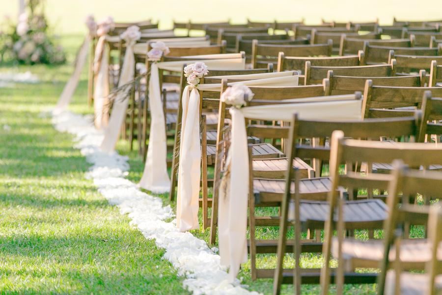 Wedding ceremony chairs at Oak Point Plantation  //  A Lowcountry Wedding Magazine & Blog