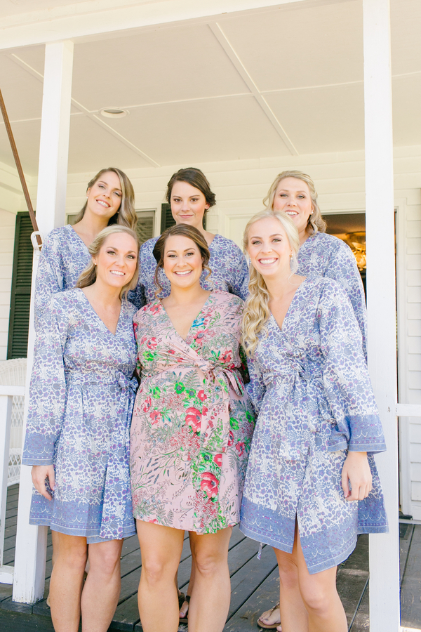 Bridesmaids in robes at Oak Point Plantation  //  A Lowcountry Wedding Magazine & Blog