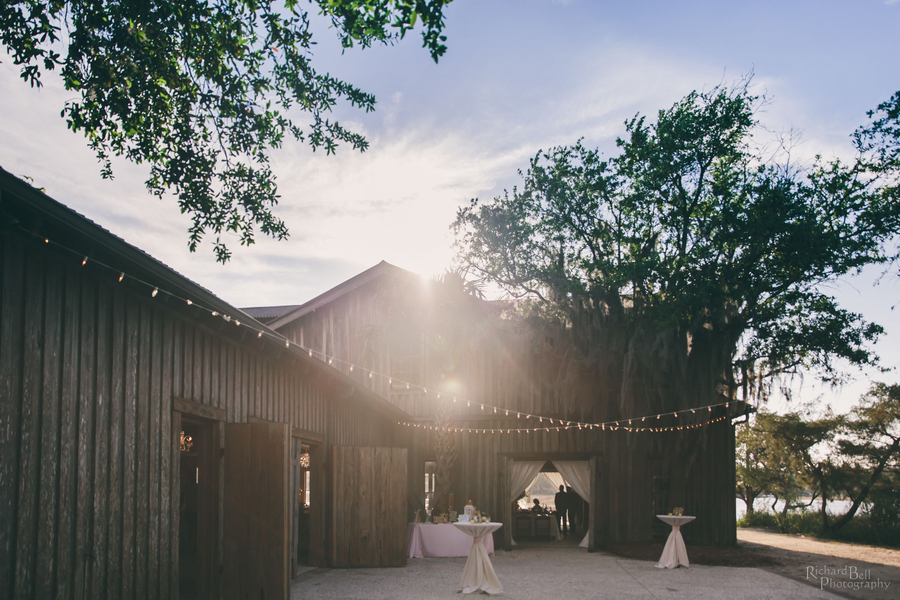 Spring wedding reception at Boone Hall Plantation's Cotton Dock designed by Posh Petals & Pearls //  A Lowcountry Wedding Magazine & Blog