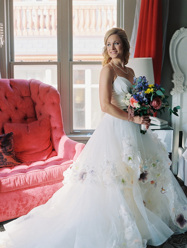 Bride wearing Paige gown by Hayley Paige at Mansion on Forsyth Park  //  Savannah wedding photos by Alison Epps Photography  //  A Lowcountry Wedding Magazine & Blog