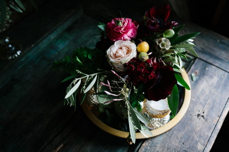 Moody floral centerpieces by The Charleston Flower Market  //  Charleston photos by Elizabeth Ervin  //  A Lowcountry Wedding Magazine & Blog