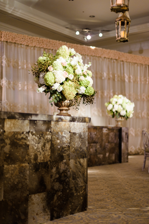 White and green hydrangea centerpieces by Todd Events  //  Hilton Head Island wedding photos by Donna Von Bruening  //  A Lowcountry Wedding Magazine & Blog