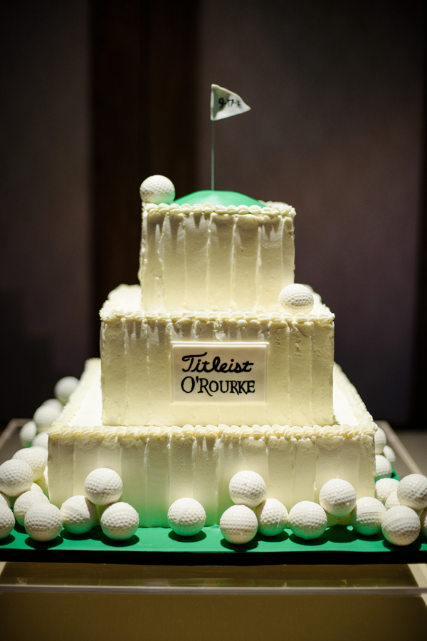Titleist Groom's Cake by Minette Rushing Custom Cake at Palmetto Bluff  //  Hilton Head Island wedding photos by Donna Von Bruening  //  A Lowcountry Wedding Magazine & Blog
