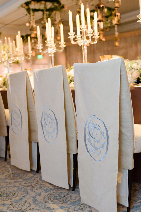 Custom chair covers by Todd Events Paige Hardison & Chris O'Rourke's wedding portraits at Montage Palmetto Bluff in Bluffton, SC  //  Hilton Head Island wedding photos by Donna Von Bruening  //  A Lowcountry Wedding Magazine & Blog