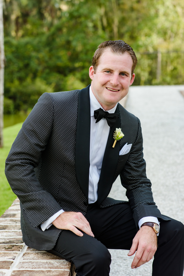 Groom Chris O'Rourke at Palmetto Bluff wedding  //  Hilton Head Island wedding photos by Donna Von Bruening  //  A Lowcountry Wedding Magazine & Blog