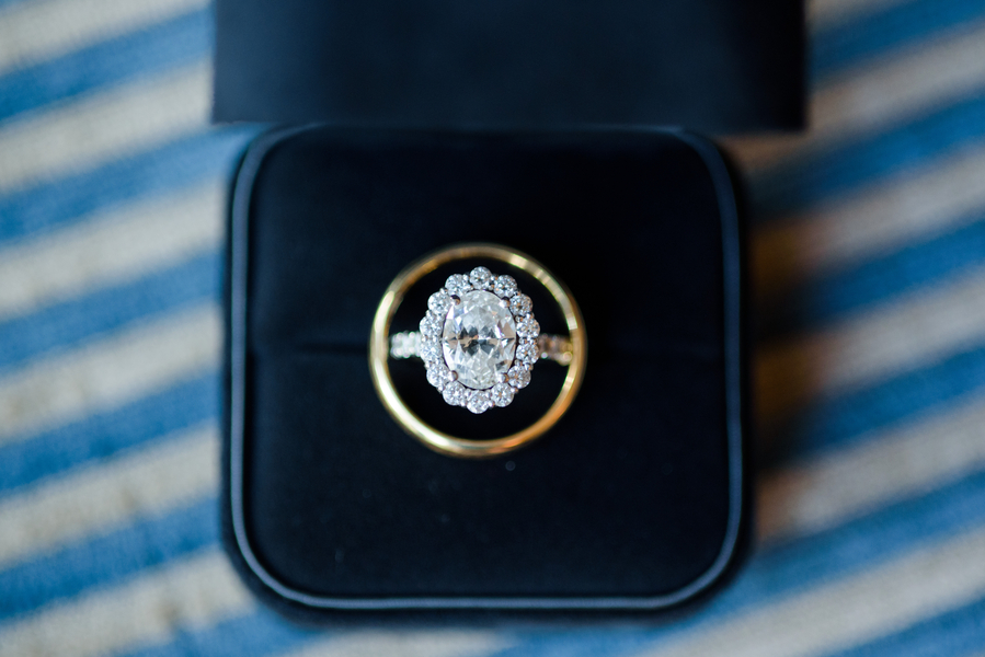 Vintage diamond engagement ring  //  Hilton Head Island wedding photos by Donna Von Bruening  //  A Lowcountry Wedding Magazine & Blog